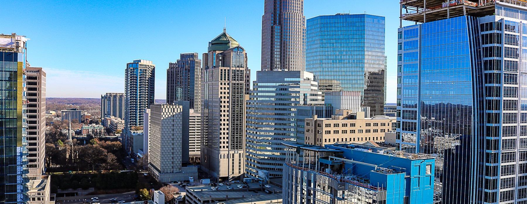 views of downtown Charlotte, NC
